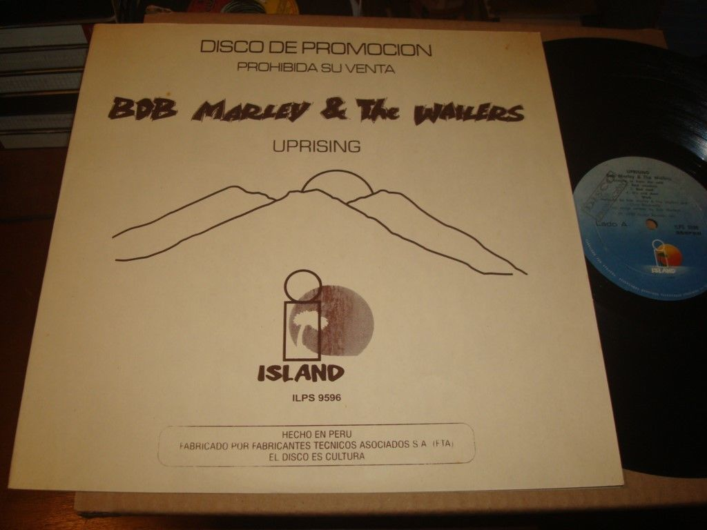 "BOB MARLEY & THE WAILERS ""UPRISING""  PROMO PERUVIAN 1980 LP #9596"