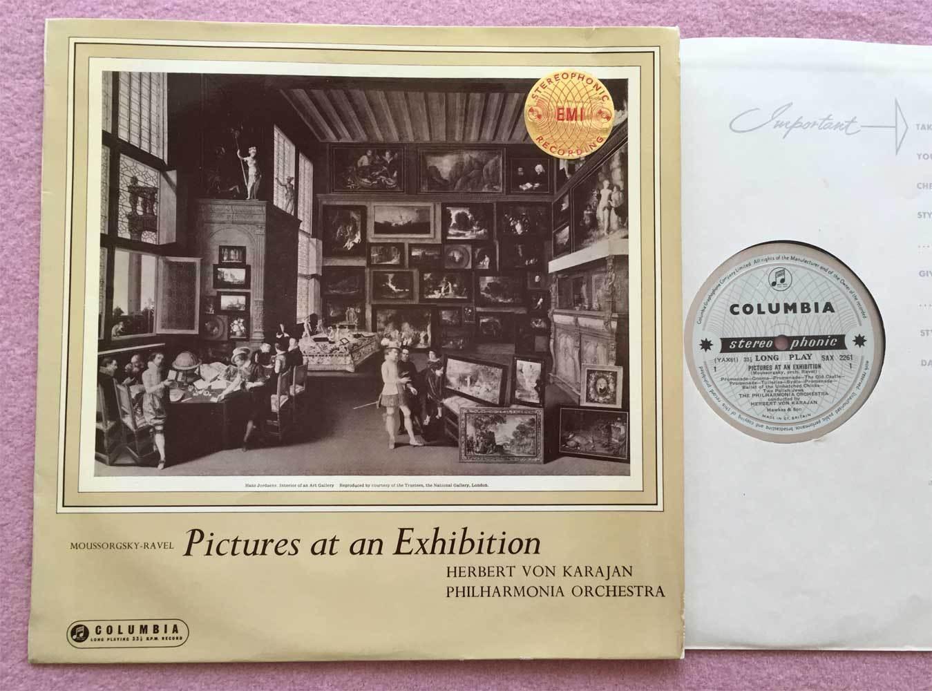 HERBERT von KARAJAN Mussorgsky ORIG Columbia blue/silver SAX 2261 UK-1960 LP NM-