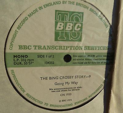 1974 BBC Transcription 14 LP BING CROSBY STORY 14 pt Radio prog Fairbanks CN1933