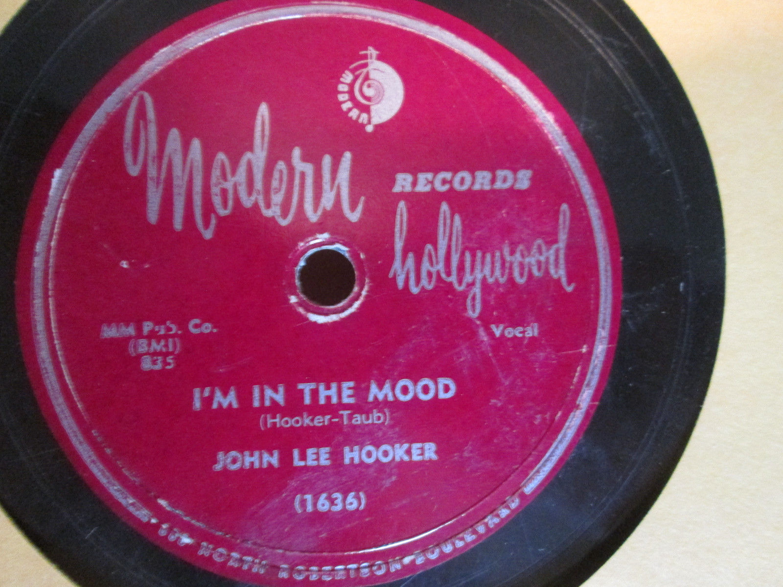 78 Blues JOHN LEE HOOKER I'm In the Mood/ How Can You Do It Modern 1636