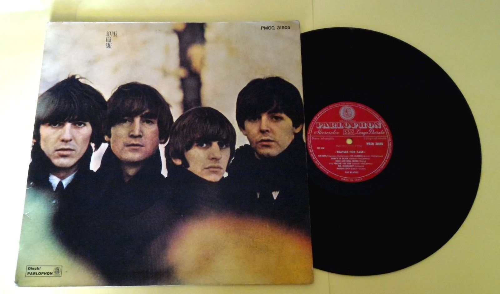 "THE BEATLES (33 RPM-ITALY) PMCQ 31505  ""BEATLES FOR SALE""  VERY FIRST PRESS"