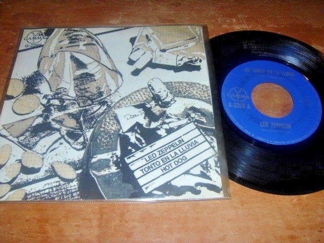 "LED ZEPPELIN Un Tonto En La Lluvia/ Hot Dog 1980 MEXICO 7"" 45 Hard Rock"