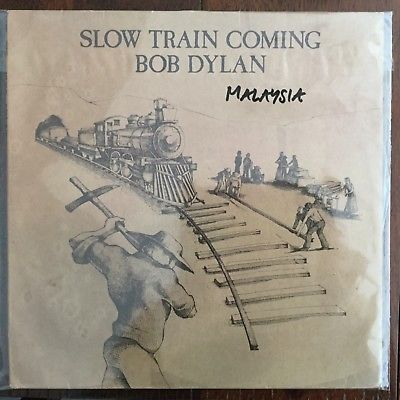 "Bob Dylan vinyl LP ""Slow Train Coming""(CBS Sony Malaysia 25 AP-1610)"