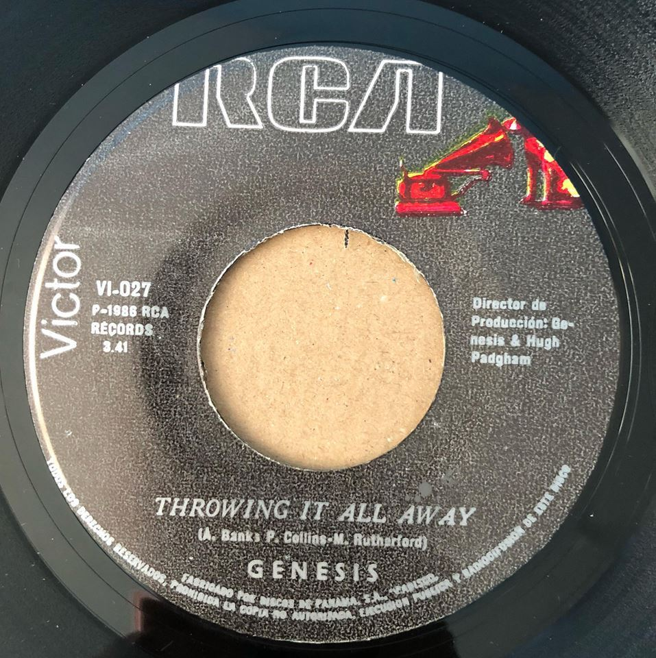 GENESIS - Invisible Touch / Throwing It All Away  - RARE PANAMA 45