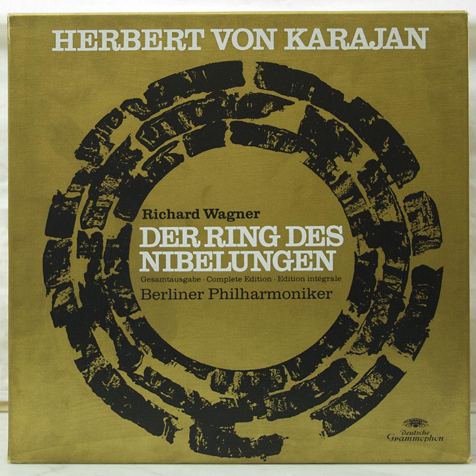19-LP BOX/BOOK KARAJAN WAGNER DER RING DES NIBELUNGEN COMPLETE CYCLE DGG STEREO