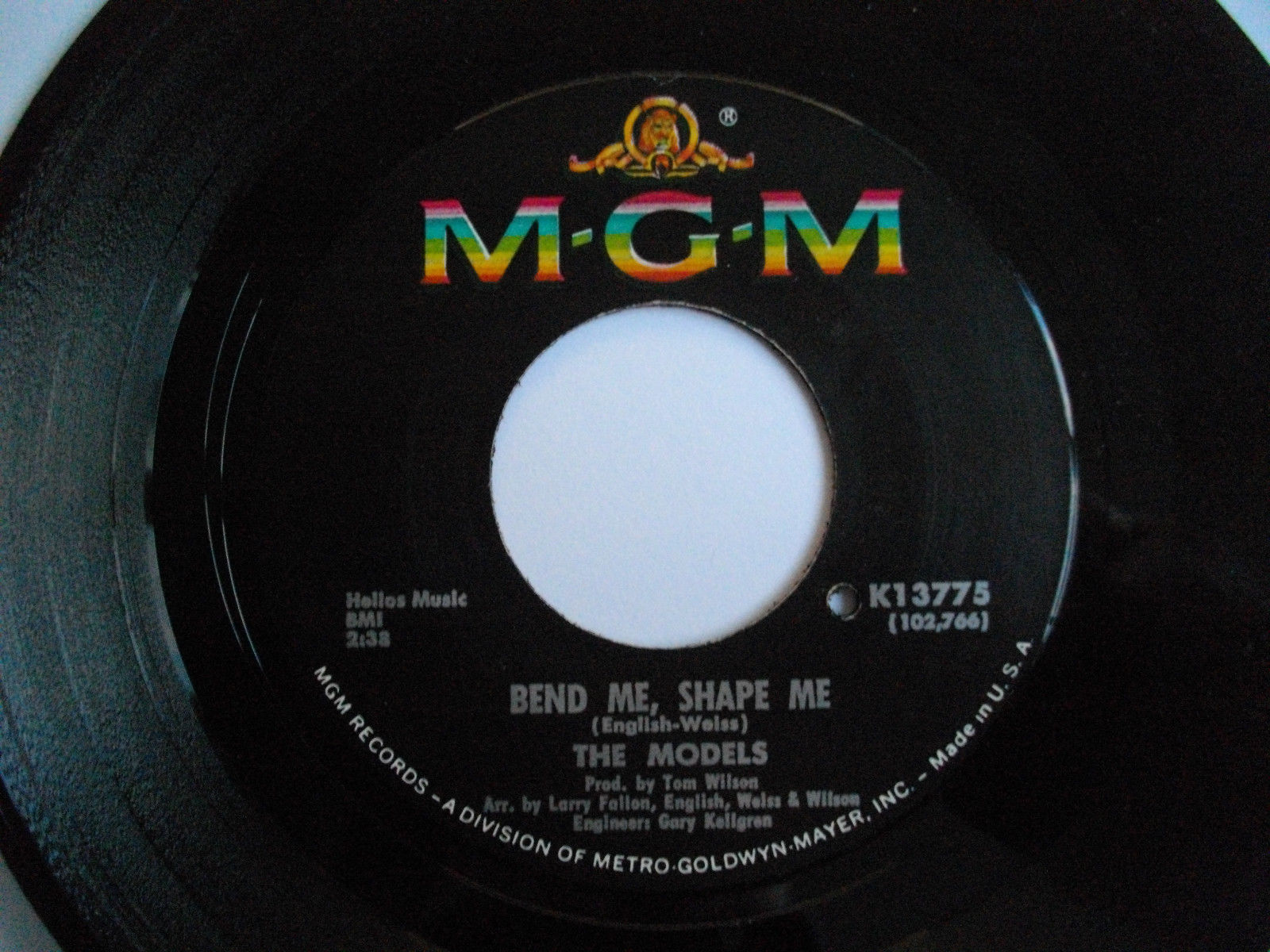 The Models - Bend me, Shape me. MGM K-13775. Mint, unplayed.