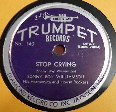 "SONNY BOY WILLIAMSON ""Stop Crying"" Trumpet 140"