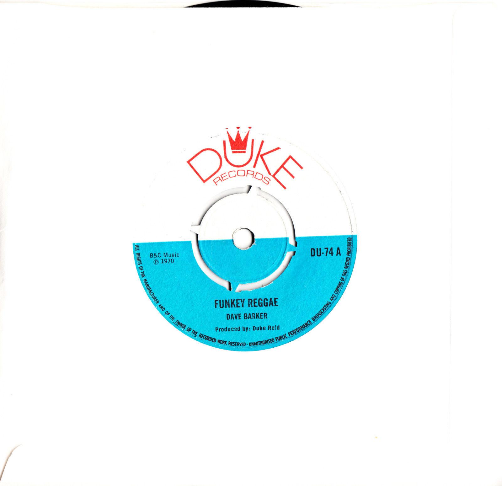 ROOTS REGGAE VINYL 7in RECORD Funky Reggae - Dave Barker / I Love You My Baby -