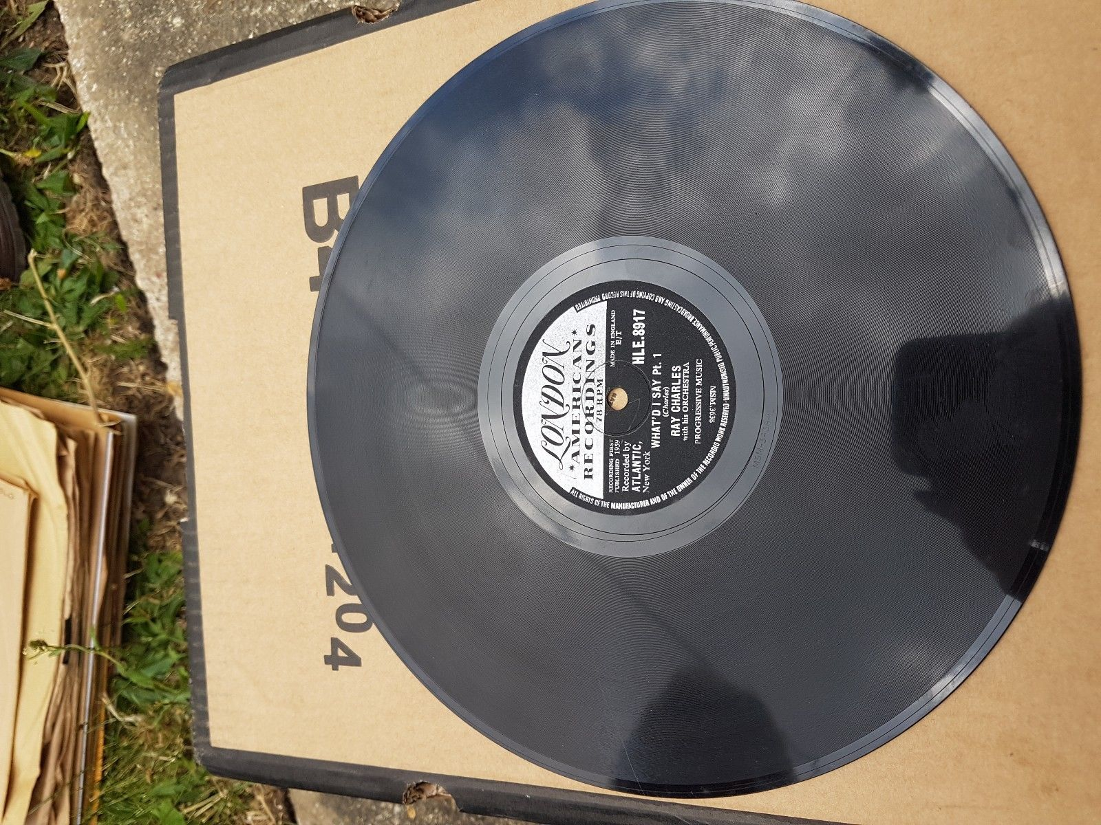 RAY CHARLES - WHAT I SAY - LONDON 78RPM