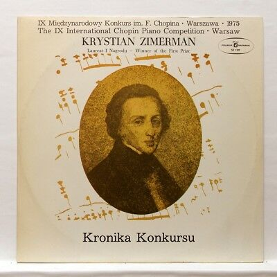 KRYSTIAN ZIMERMAN - CHOPIN piano works POLSKIE NAGRANIA LP EX++