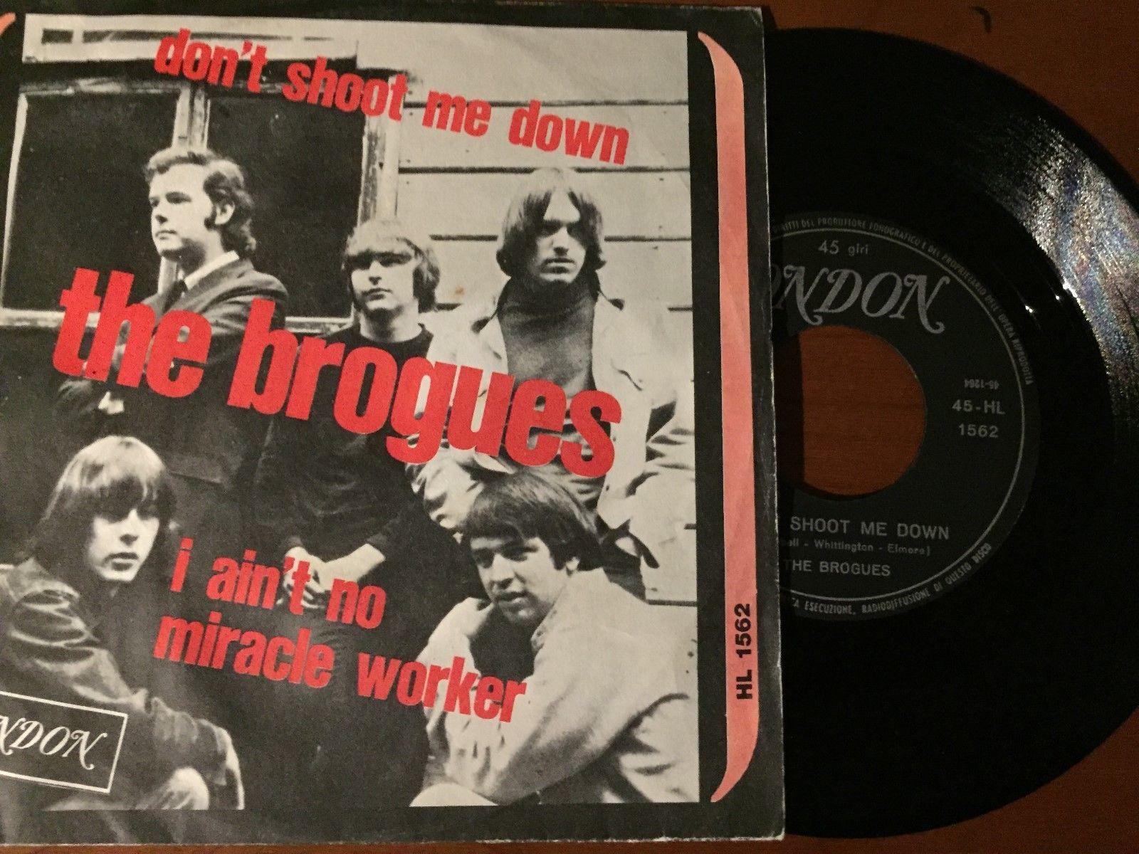 "45 GARAGE ROCK THE BROGUES ""DON'T SHOOT ME DOWN"" RAREST TOP ORIGINAL ITALY 1966"