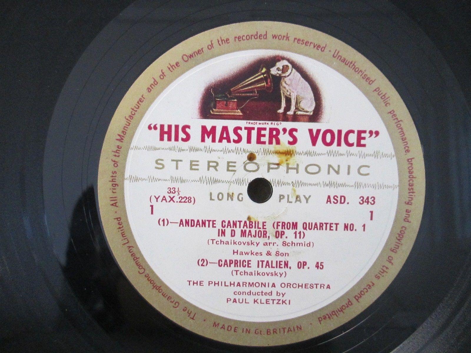 ASD 343 ED1 W/G- Tchaikovsky / Rimsky-Korsakov / Glinka- Paul Kletzki PO LP EX++