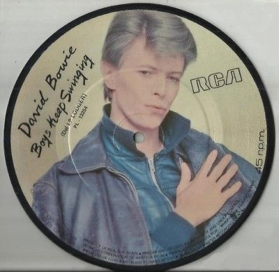 """DAVID BOWIE BOYS KEEP SWINGING 1978 SPAIN PROMO ONLY 7"""" PICTURE DISC"""