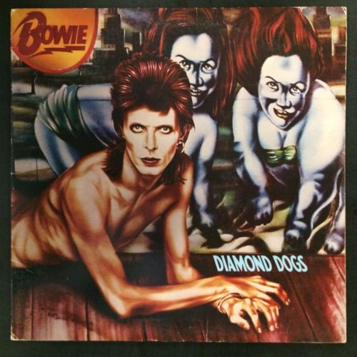 "David Bowie - ""Diamond Dogs"" - Autographed by David Bowie - used vinyl LP"
