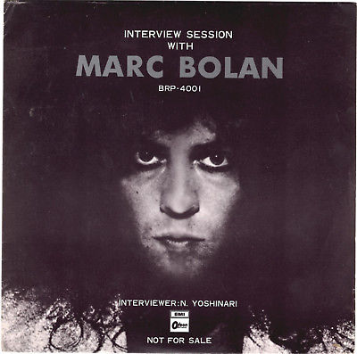 T. REX - INTERVIEW SESSION WITH MARC BOLAN - SUPER RARE  JAPAN PROMO 33'PS