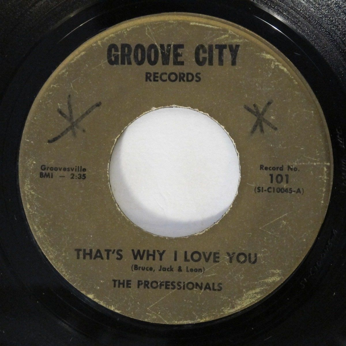 PROFESSIONALS That's Why I Love You Groove City Northern Soul RARE 45 HEAR
