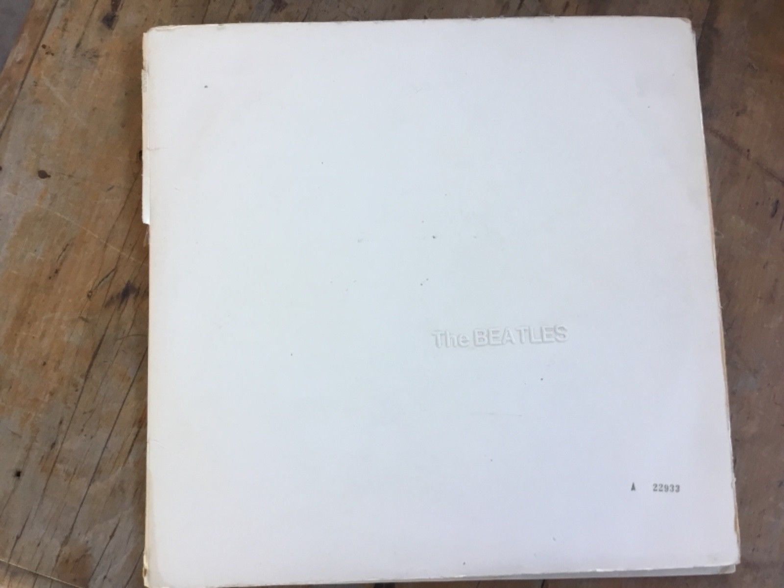 BEATLES WHITE ALBUM 1st OZ PRESS LOW NUMBER POSTER,PHOTOS LYRICS LP RECORD VINYL