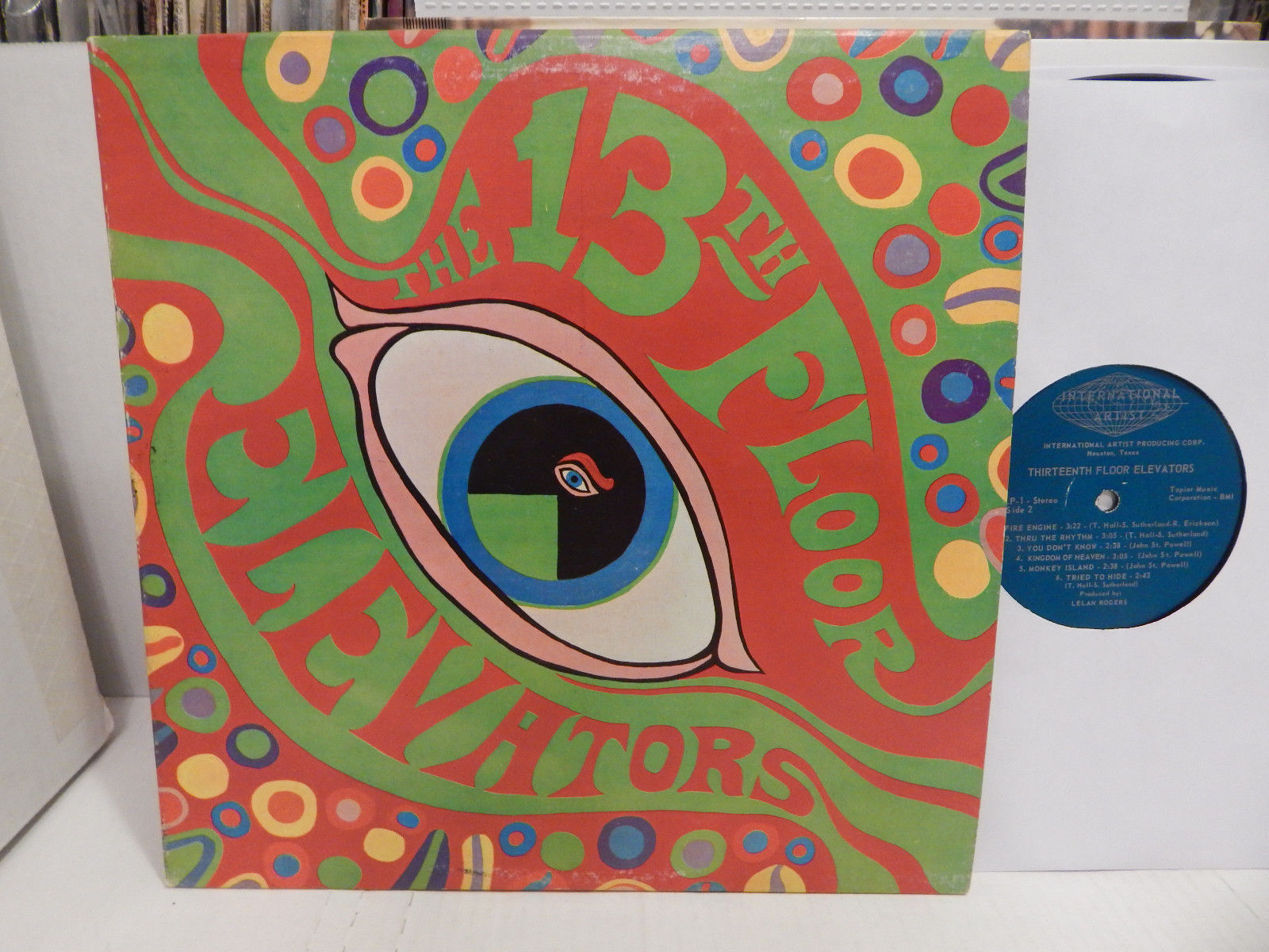 13th Floor Elevators Psychedelic Sounds International First Stereo PR 1A No1 LP