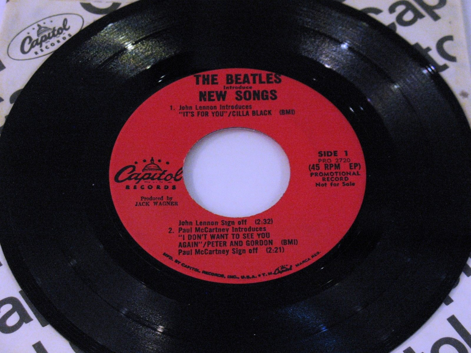 """Beatles 45 PROMO """"BEATLES INTRODUCE NEW SONGS"""" Capitol PRO 2720 w/Asterisk - NM"""