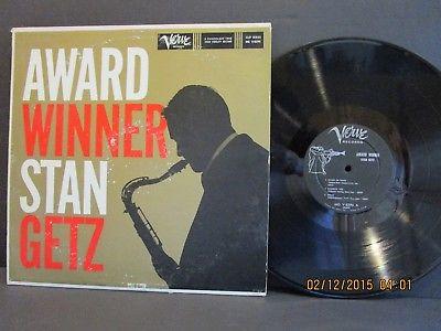 STAN GETZ Award Winner Clef Verve MG V-8296 D/G Vinyl LP 1959 EX+