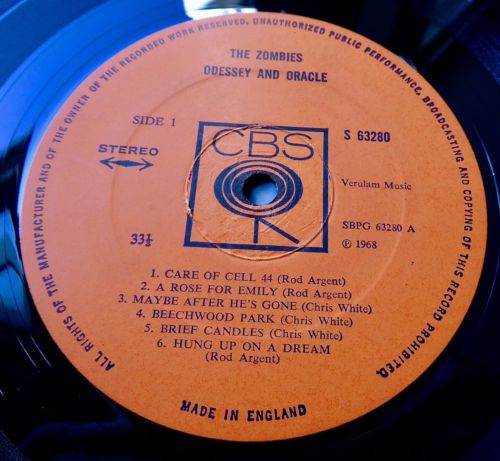 THE ZOMBIES Odessey And Oracle 1968 UK CBS 1st *STEREO* - NEAR MINT