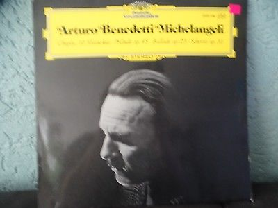 Arturo Benedetti Michelangeli Chopin Mazurkas  Rare Promo Label DG NM