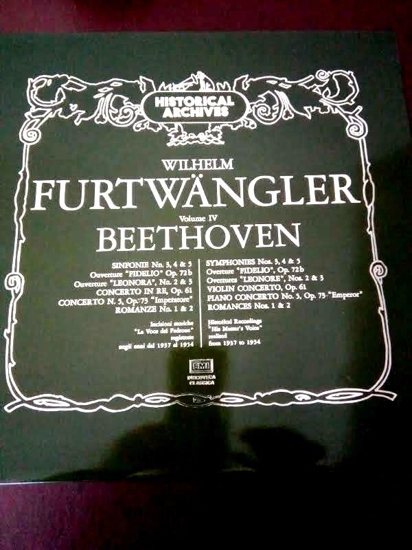 EMI HISTORICAL ARCHIVES BEETHOVEN FURTWANGLER MENUHIN - 6 LP MINT BOX