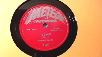 Elmore James - I Believe / I Held My Baby Last Night (Rare Blues 78) Meteor VG+