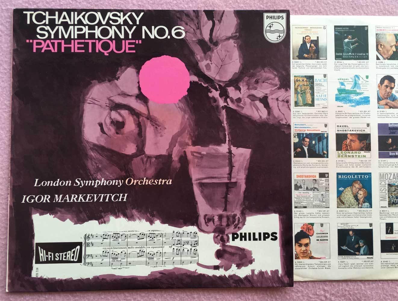 IGOR MARKEVITCH Tchaikovsky No.6 ORIG Philips Hi-Fi Stereo 835126 HOL-1960s NM