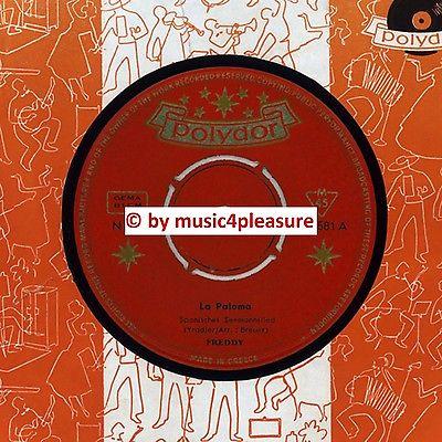 "? 7"" 1961 Freddy Quinn LA PALOMA Polydor 24581 Griechenland   EXTREM SELTEN NM ?"