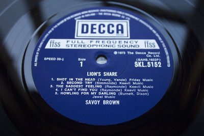 SAVOY BROWN LIONS SHARE 1st UK PRES MiNt AuDiO ViNyL ArChIvE PROG 70s BLUES ROCK