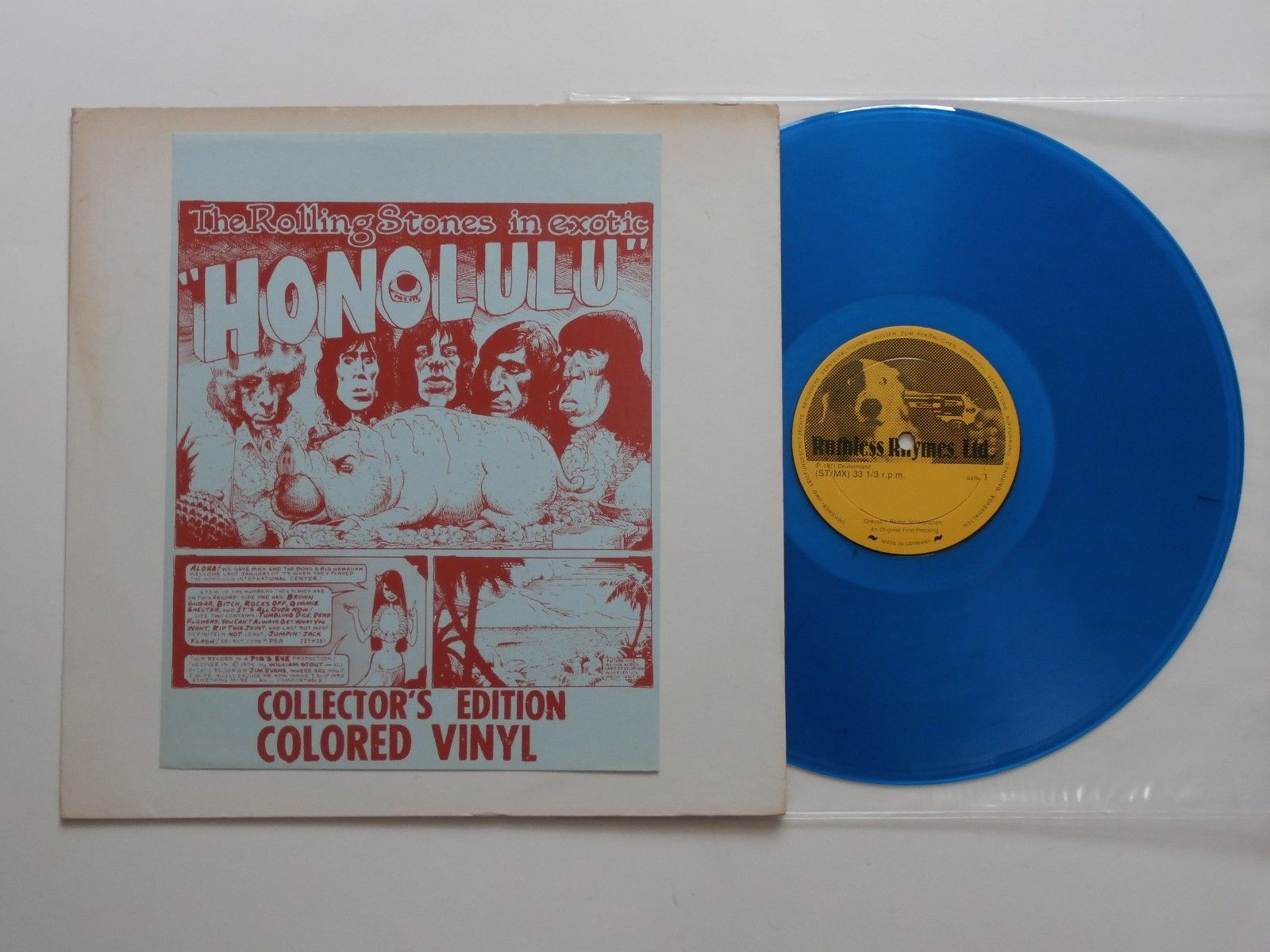 The Rolling Stones Exotic Honolulu Colored Vinyl LP VG++ / EX No TMOQ Ruthless