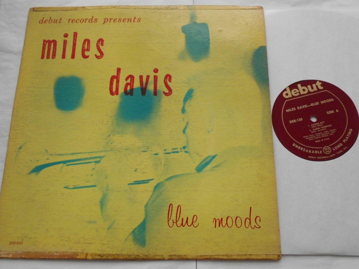 MILES DAVIS w/ CHARLES MINGUS Blue Moods ORIGINAL 1955 DEBUT DEB-120 JAZZ US LP