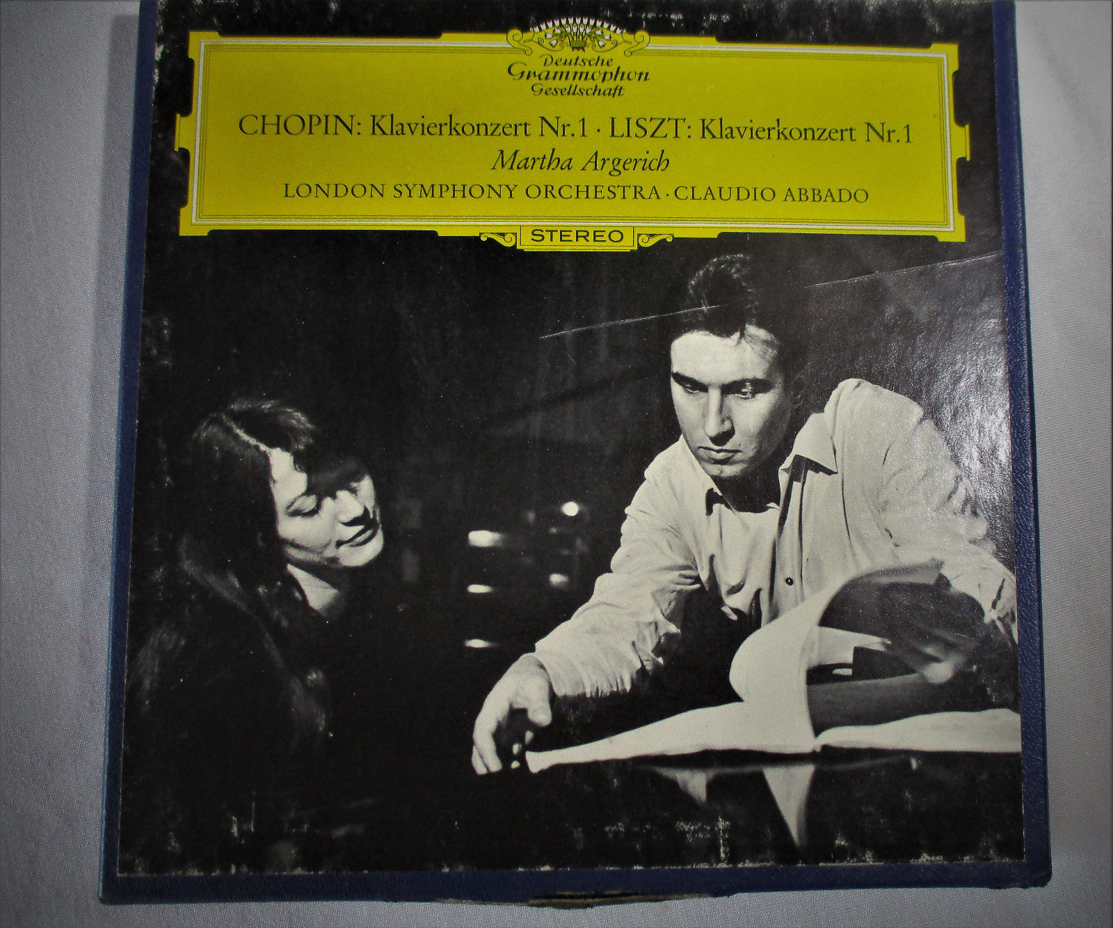 CHOPIN Classical Reel To Reel DGG USA 7.5 IPS TESTED TAPE Argerich Abbado VG+