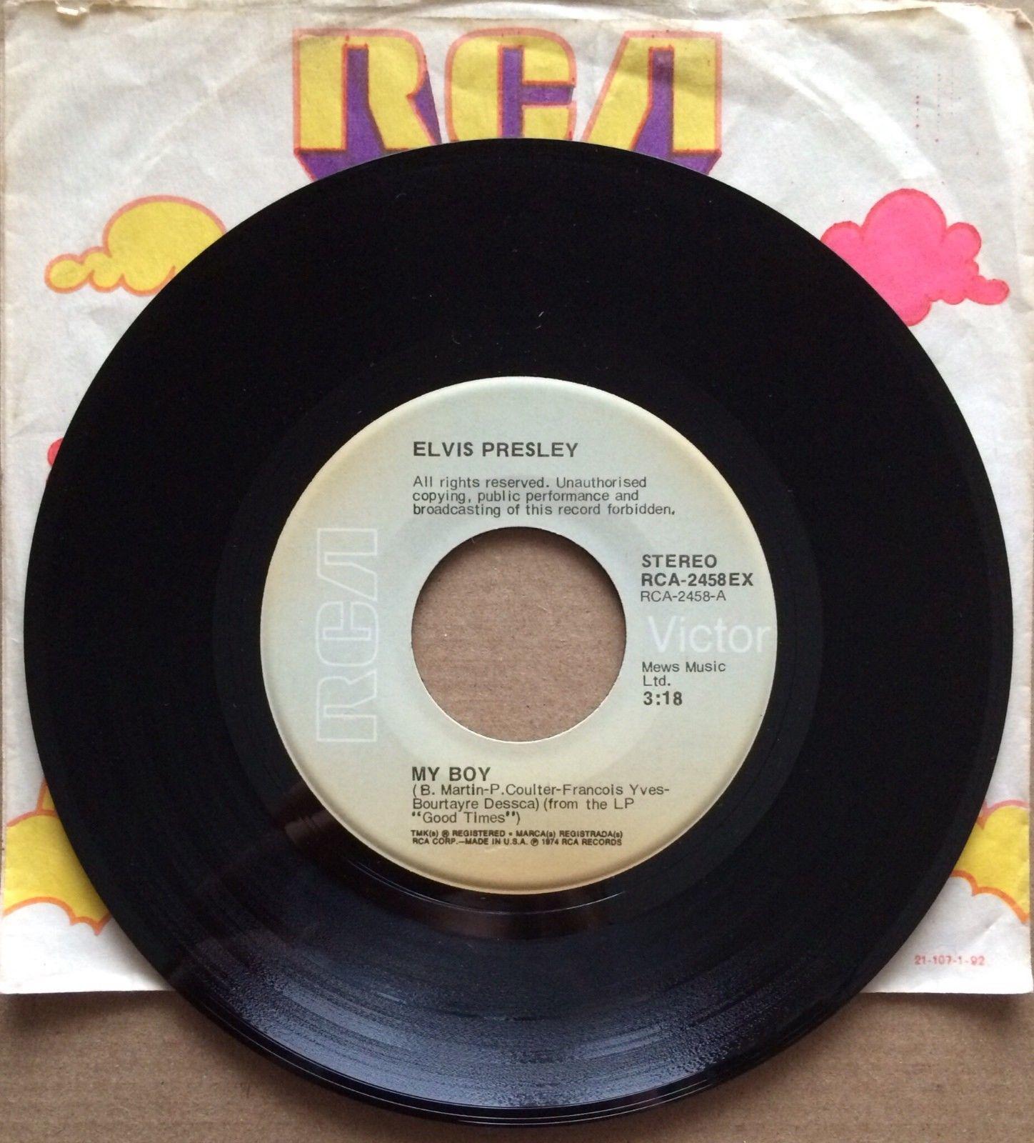 """ELVIS PRESLEY My Boy RCA 2458EX rare grey label USA 7"""" vinyl single export copy"""