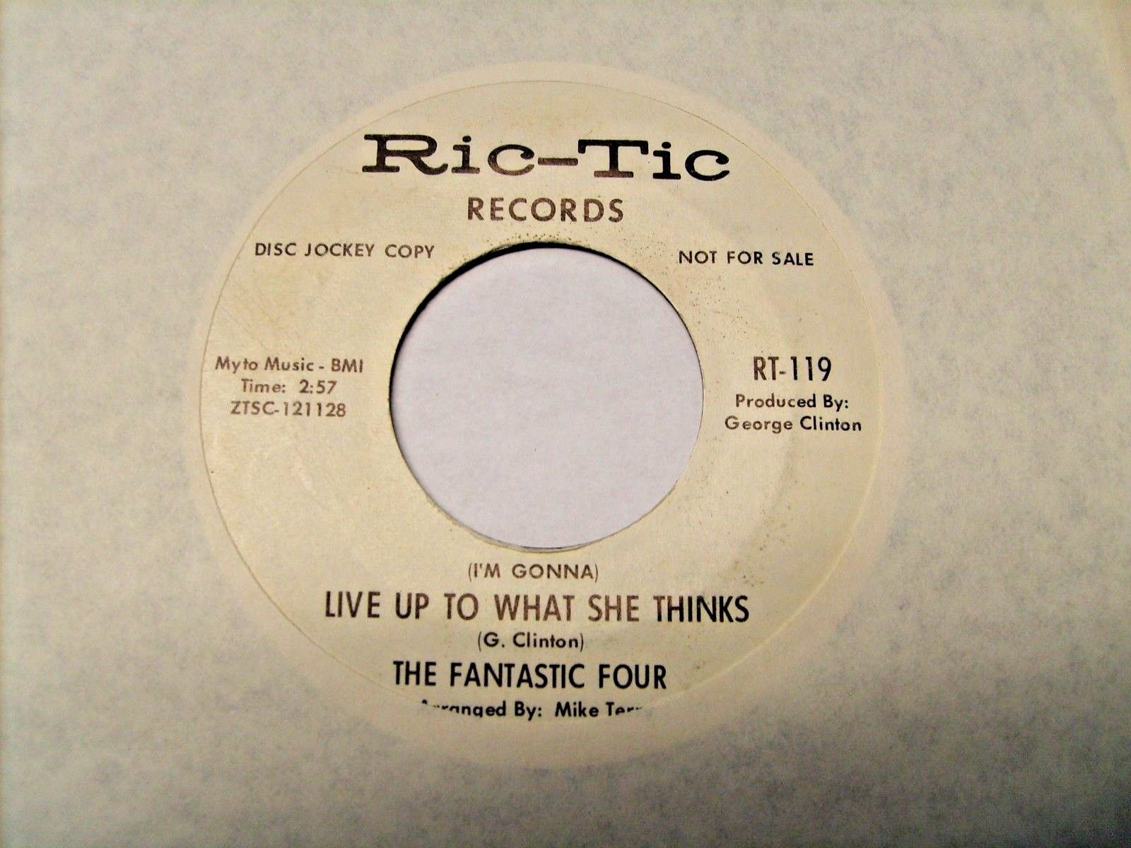 45 Northern Soul - The Fantastic Four on Ric-Tic Label VG+