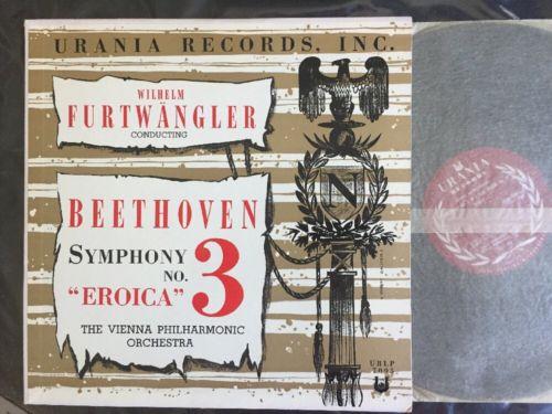 FURTWANGLER / BEETHOVEN Symphony No 3 Eroica URANIA 7095 AB Stamper Lp