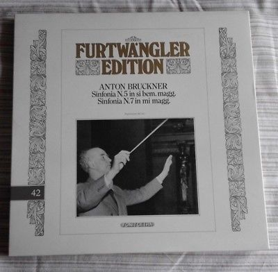 FURTWANGLER EDITION - BRUKNER SINFONIA N. 5 e 7 - 3 LP FONIT CETRA FE 42