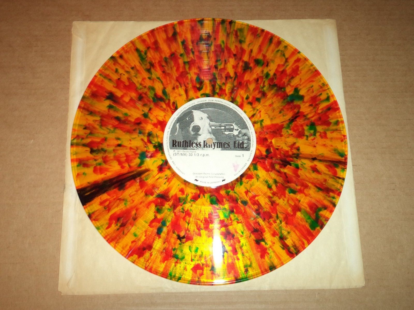 LED ZEPPELIN MUDSLIDE LP MULTICOLORED VINYL RUTHLESS RHYMES TMOQ TAKRL MCV RARE