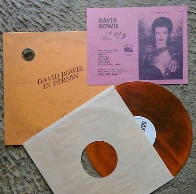 DAVID BOWIE IN PERSON RARE TMOQ ORANGE MARBLED VINYL ALBUM