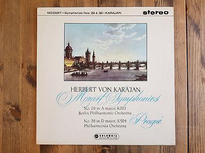 """Columbia SAX2356 - Mozart - Symphonies Nos.29 & 38 """"Prague""""- Herbert Von KARAJAN"""