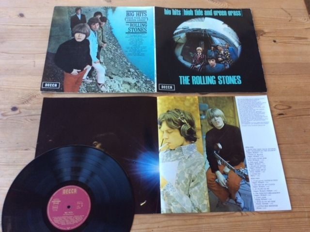 THE ROLLING STONES / BIG HITS / LP / Original TXS 101 mit booklet weinrot gold