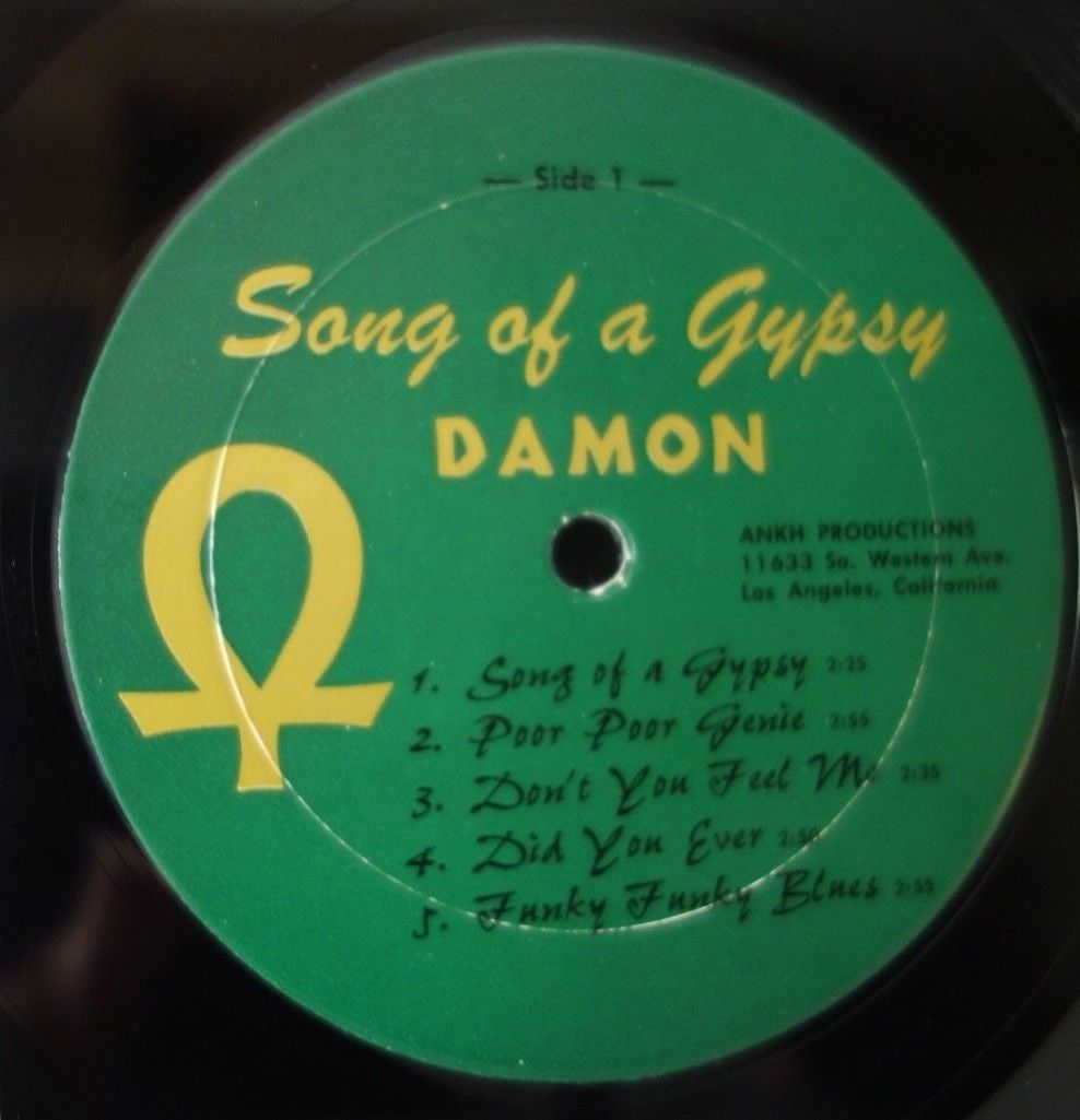 "VG+/EX- Damon ""Song of a Gypsy"" 1st Press Ankh Records Private Psych Holy Grail"