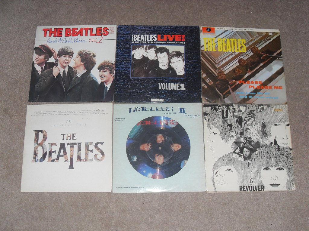 THE BEATLES - TIMELESS II, HAMBURG, PLEASE PLEASE ME, REVOLVER, HITS - 6 RECORDS