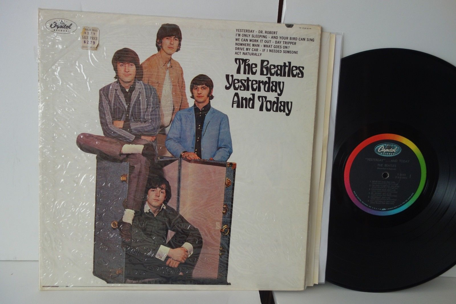 "NM/EX- Beatles ""Yesterday And Today"" Butcher Cover UNPEELED shrink +2 stickers"