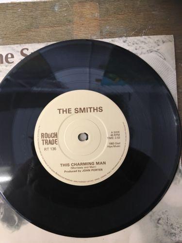 "The Smiths "" This Charming  Man' 7 Inch Vinyl Record, Rough Trade 1983, Near Min"