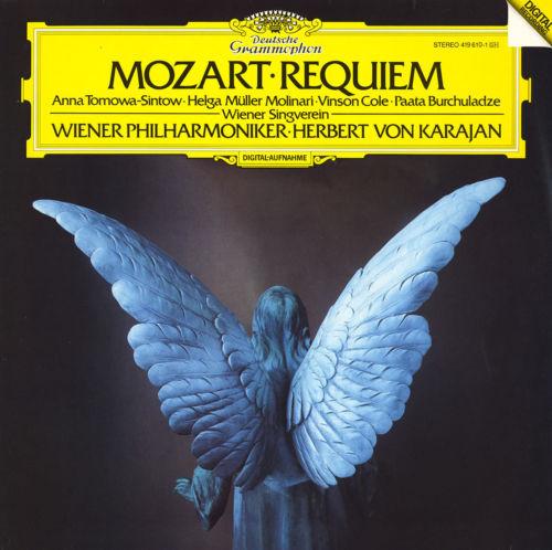 MOZART Requiem KARAJAN TOMOWA-SINTOW MOLINARI DGG 419610 Digital LP NM 1986