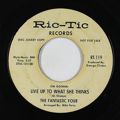 Northern Soul 45 - Fantastic Four - Live Up To What She Thinks - Ric-Tic - mp3