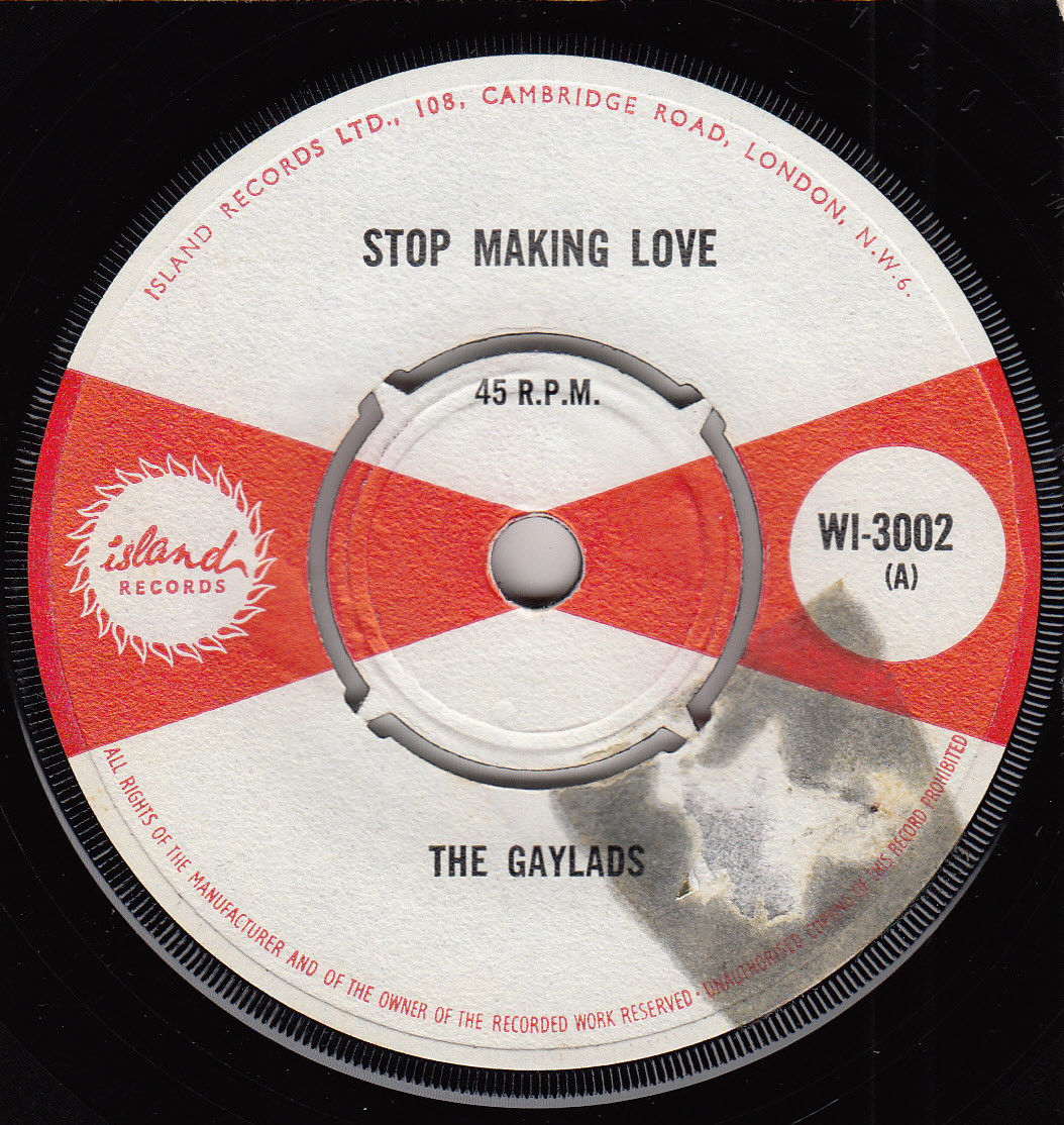 "60s Ska Reggae THE GAYLADS stop making love Rare 1966 UK 7"" Vinyl 45 Ex"