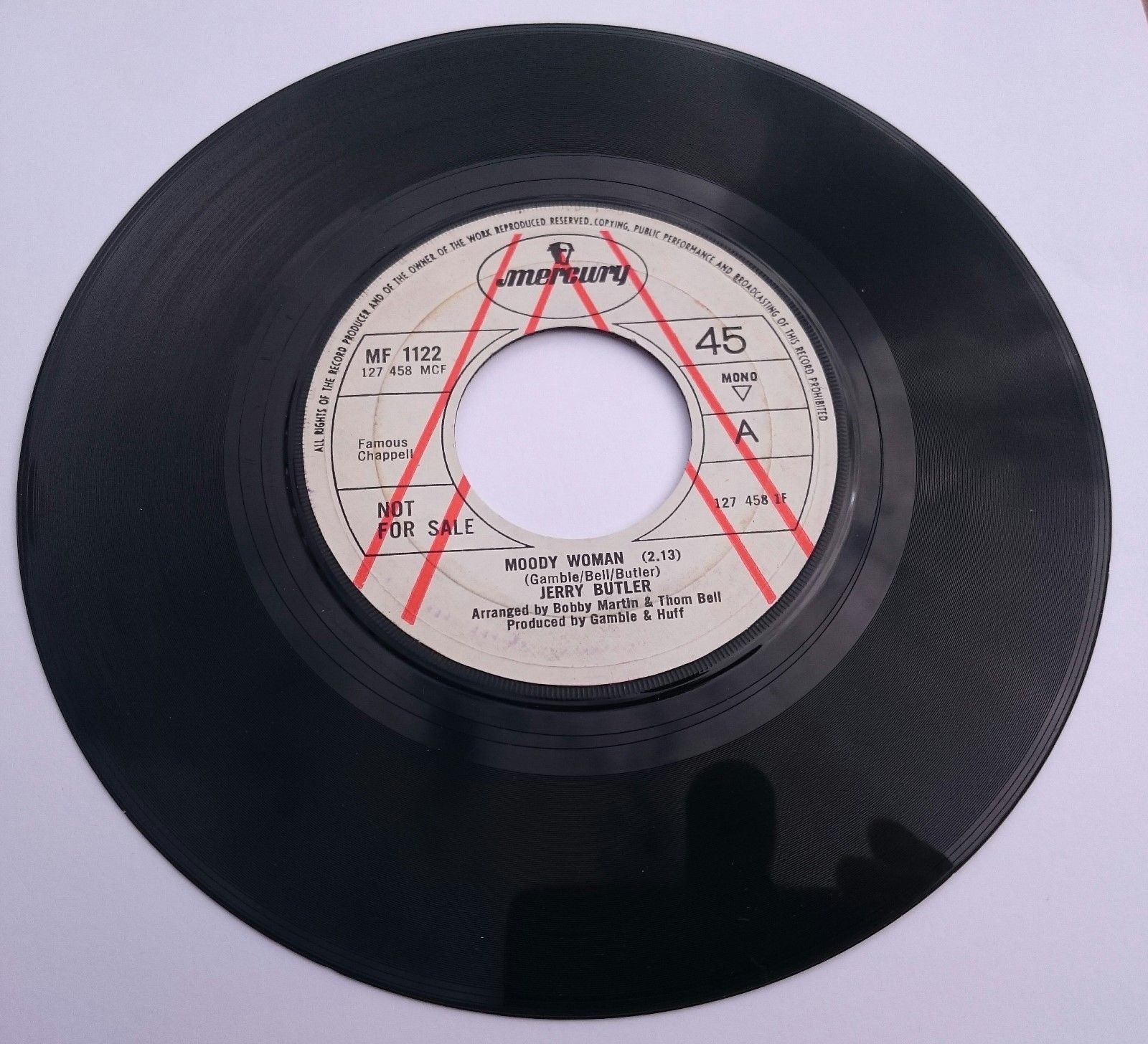 JERRY BUTLER -   MOODY WOMAN  -  DEMO - NORTHERN SOUL - RARE